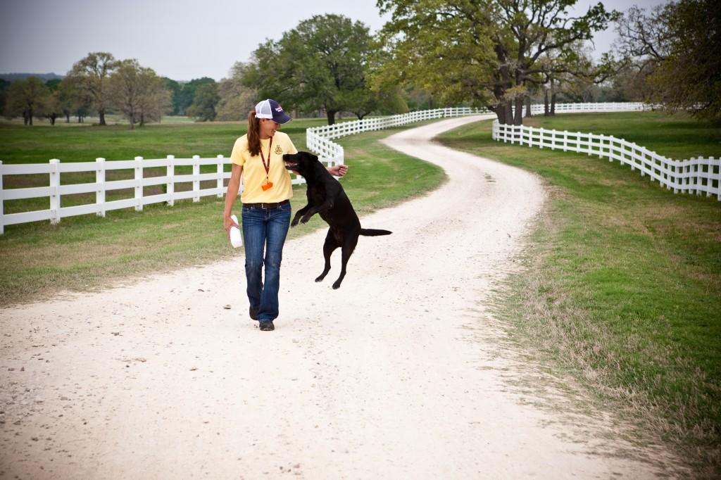 Niki showing her joy to train.
